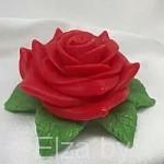 """Силиконовая форма для мыла """"Роза на листве"""" 3D"""