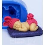 """Силиконовая форма для мыла """"Малыш на одеялке №1"""" 3D"""