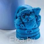 """Силиконовая форма для мыла """"санта с колокольчиком """" 3D"""