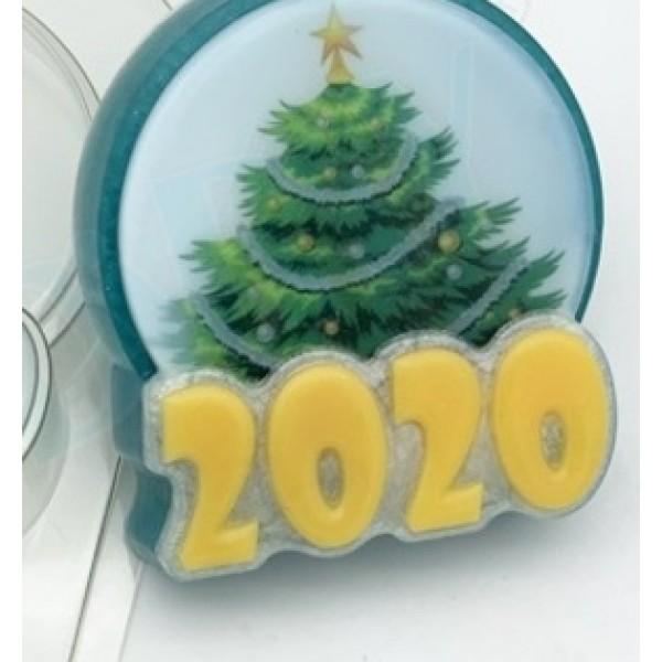 "Пластиковая форма для мыла ""2020/ круг"""