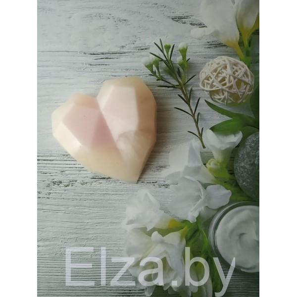 """Силиконовая форма для мыла  """"Алмазное сердце"""" №1"""