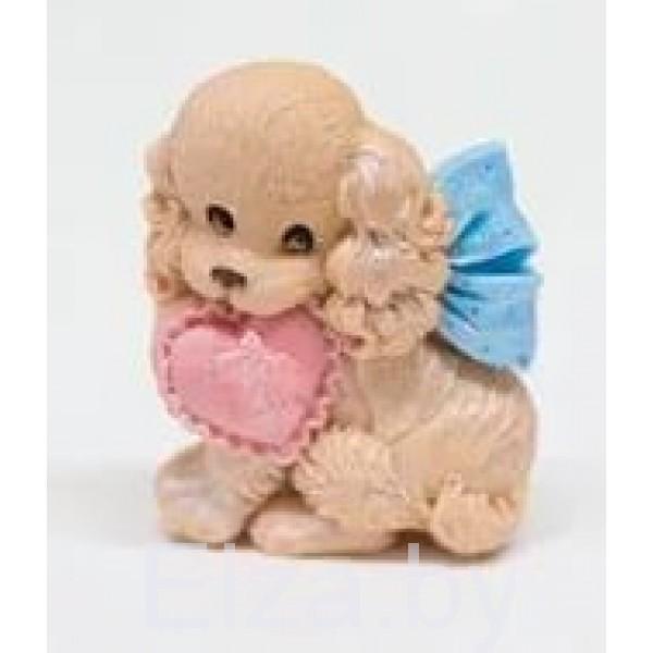 """Силиконовая форма для мыла """"собачка с сердцем"""" 2D"""