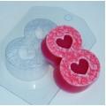 """Пластиковая форма для мыла  """"Восьмерка/лепестки роз"""" 8 марта"""