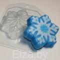 """Пластиковая форма для мыла  """"Снежинка 3"""""""