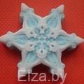 """Силиконовая форма для мыла """"снежинка 4"""" 2D"""