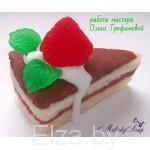 """Силиконовая форма для мыла """"кусок торта""""3D"""