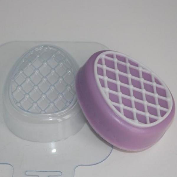 """Пластиковая форма для мыла """"Яйцо/ сетка"""""""