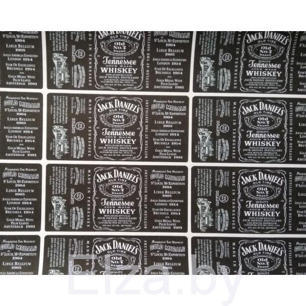 """Наклейки на бутылку виски  """"Jack Daniels"""", 12 шт."""