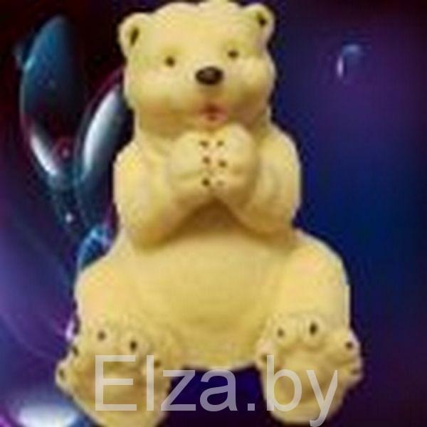 """Силиконовая форма для мыла """"медведь Умка"""" 3D"""