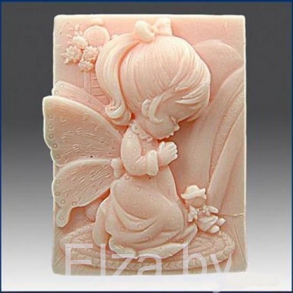 """Силиконовая форма для мыла """"девочка ангел"""" 2D"""